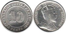 coin Straits Settlements 10 cents 1910