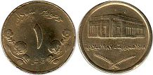coin Sudan 1 ghirsh 1987