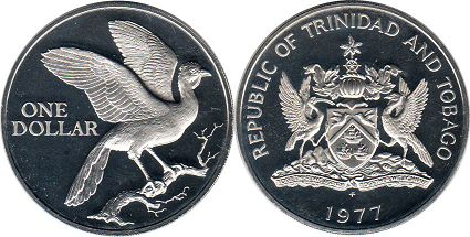 coin Trinidad and Tobago 1 dollar 1977