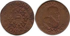 coin Boisbelle and Henrichemont double denier 1636