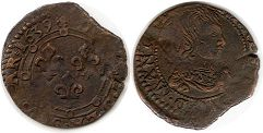 coin Charleville double denier 1639