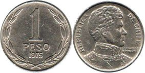 moneda Chilli 1 peso 1975