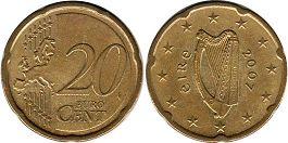 coin Ireland 20 euro cent  2007