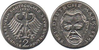 coin Germany 2 mark 1990