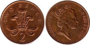 coin Great Britain 2 pence 1987