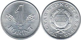 coin Hungary 1 forint 1989