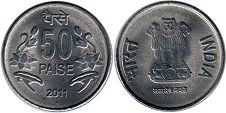coin India 50 paise 2011