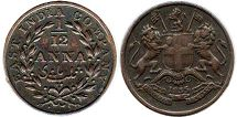 coin East India Company 1/12 anna 1835