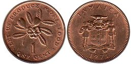 coin Jamaica 1 cent 1971 FAO