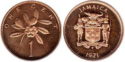 coin Jamaica 1 cent 1971