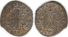 coin Lorraine 15 denier without date (1697-1729)