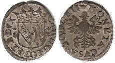 coin Lorraine double denier without date (1625-1634)