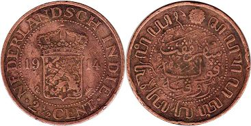 coin Netherlands East-Indies 2 1/2 cents 1914