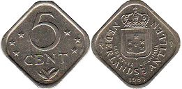 coin Netherlands Antilles 5 cents 1983