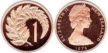 coin New Zealand 1 cent 1979
