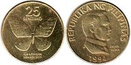 coin Philippines 25 centimes 1994