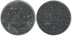 coin Poland 20 grosch 1941-1944