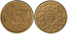 coin Portugal 50 euro cent 2005
