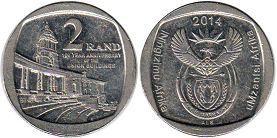 coin South Africa 2 rand 2014 Union Buildings