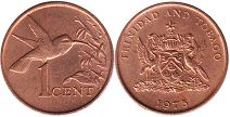 coin Trinidad and Tobago 1 cent 1975