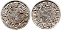 coin Austria 1 kreuzer without date (1619-1632)