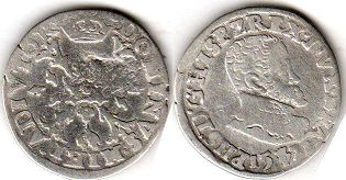 coin Spanish Netherlands 1/10 filipsdaarder 1571