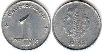 coin East Germany 1 pfennig 1948