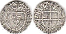 coin Teutonic Order 1 shilling ND (1414-1422)
