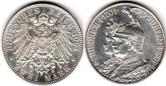 coin German Empire 2 mark 1901