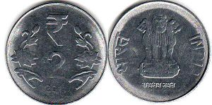 coin India 2 rupees 2011