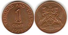 coin Trinidad and Tobago 1 cent 1973
