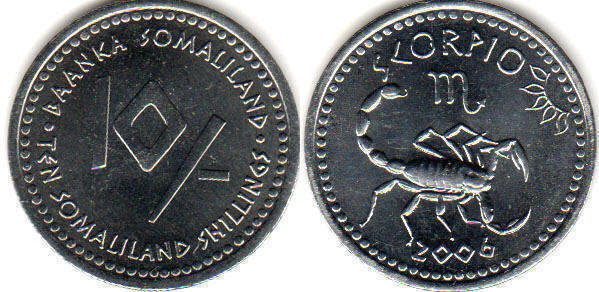 2006 Somaliland 10 Shillings Pisces
