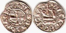 coin Achaea denier ND (1307-1313)