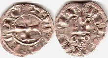 coin Achaea denier ND (1316-1321)