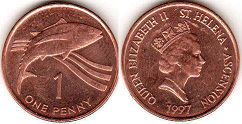 coin Saint Helena and Ascension 1 penny 1987