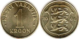 coin Estonia 1 kroon 2006