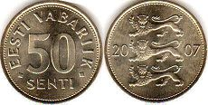 coin Estonia 50 senti 2007