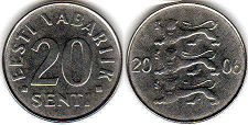 coin Estonia 20 senti 2006