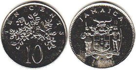 coin Jamaica 10 cents 1990