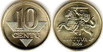 coin Lithuania 10 centu 2009