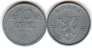 coin Norway 10 ore 1942
