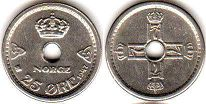 coin Norway 25 ore 1947