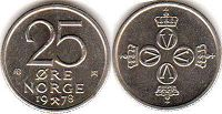 coin Norway 25 ore 1978