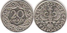 coin Poland 20 groszy 1923