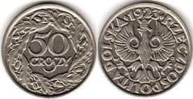 coin Poland 50 groszy 1923