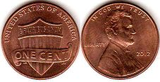 US coin 1 cent 2012