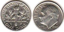 US coin 10 cents 1994 Roosevelt dime