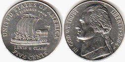 coin US commemorative coin 5 cents 2004 Lewis and Clark Expedition