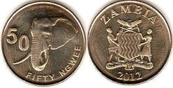 coin Zambia 50 ngwee 2012