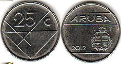 coin Aruba 25 cents 2012